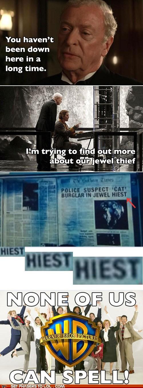 The Dark Knight Rises Spelling Mistake
